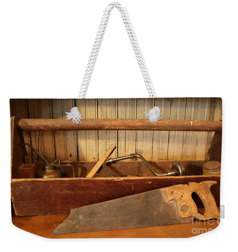 Tool Weekender Tote Bag featuring the photograph Carpenter's Toolbox - Not Free Do Not Copy by Marna Edwards Flavell