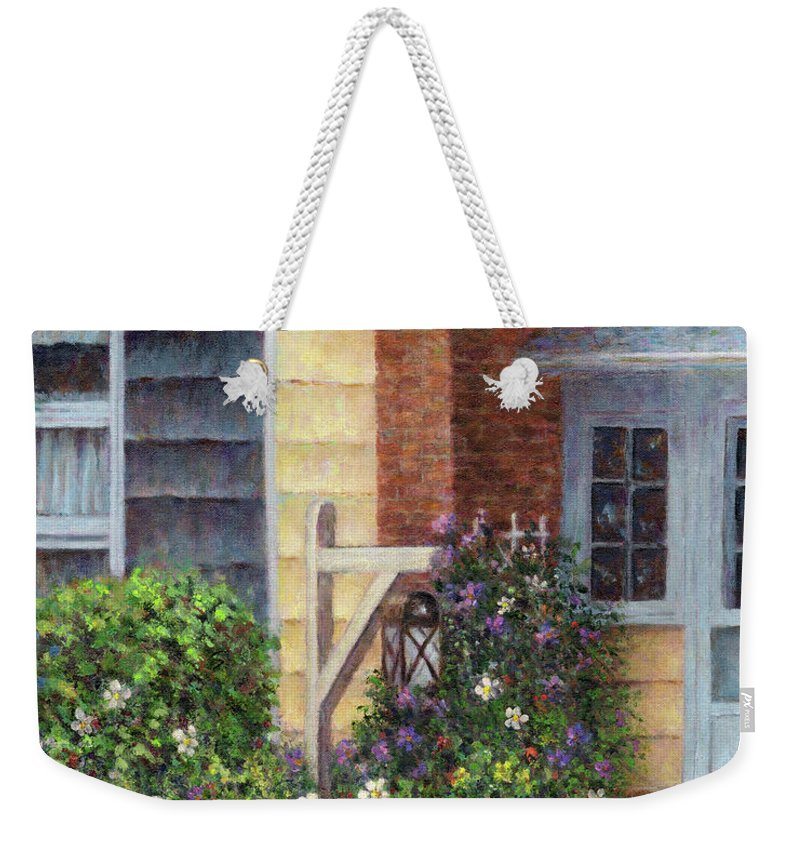 House Weekender Tote Bag featuring the painting Carriage Lamp by Susan Savad