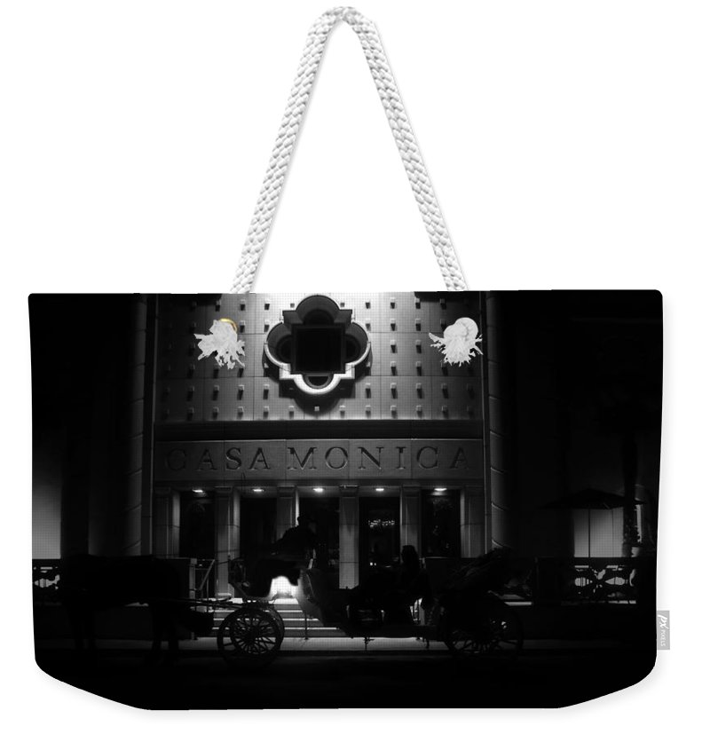Carriage Weekender Tote Bag featuring the photograph Carriage Ride At The Casa Monica by David Lee Thompson