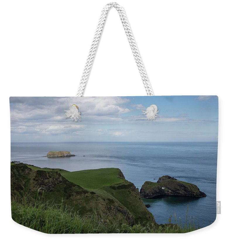 Ireland Weekender Tote Bag featuring the photograph Carrick Island From Portaneevey by Teresa Wilson