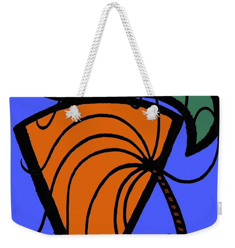 Carrot Weekender Tote Bag featuring the painting Carrot And Stick by Patrick J Murphy