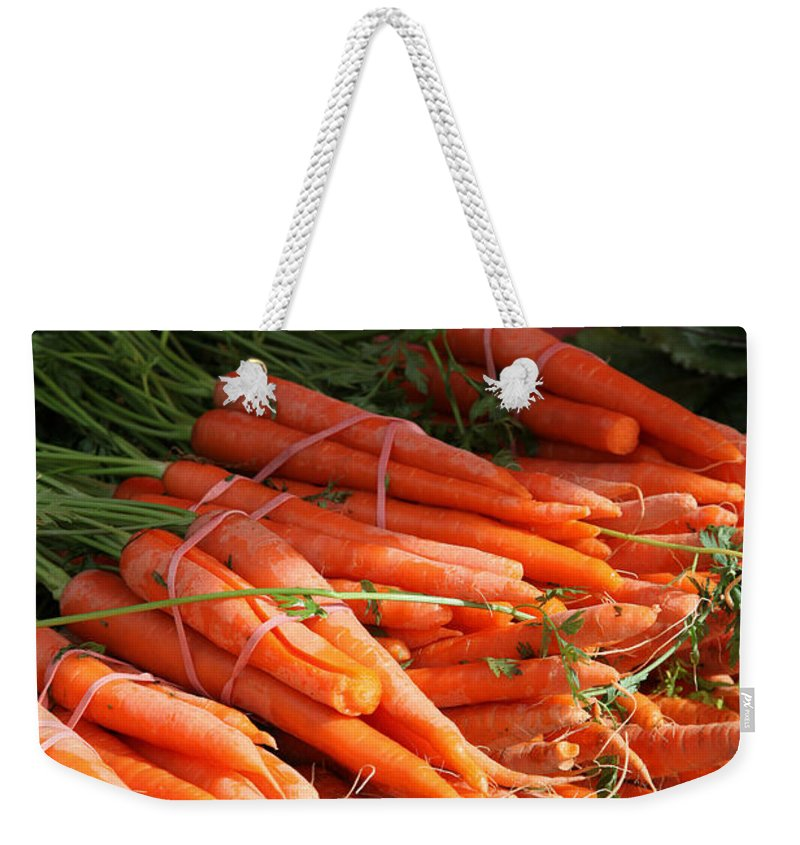 Stilllife Weekender Tote Bag featuring the photograph Carrot Bounty by Portraits By NC