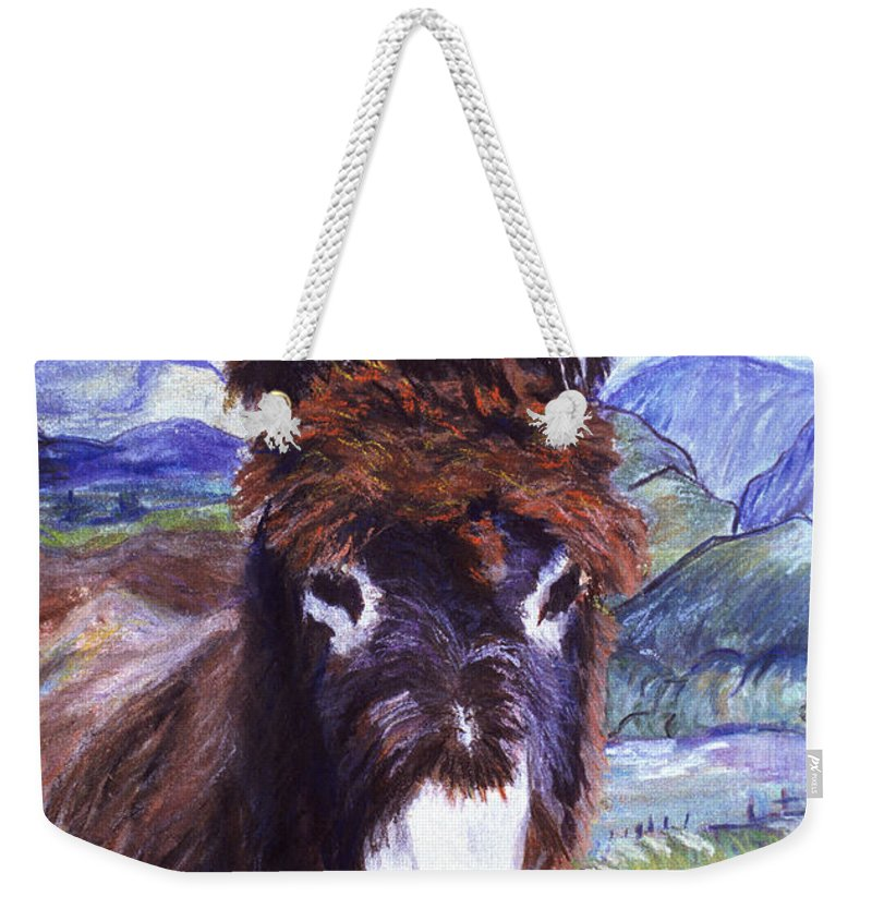 Pat Saunders-white Paintings Weekender Tote Bag featuring the mixed media Carrot Top by Pat Saunders-White