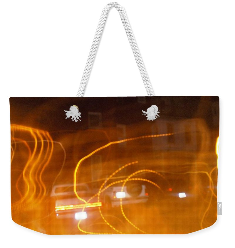 Photograph Weekender Tote Bag featuring the photograph Cars On Fire by Thomas Valentine