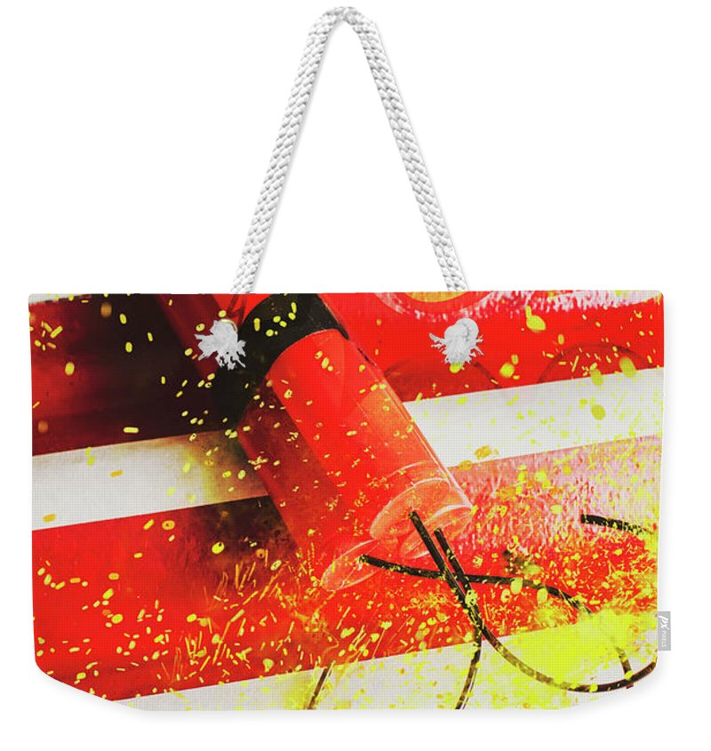 Explosive Weekender Tote Bag featuring the photograph Cartoon Bomb by Jorgo Photography - Wall Art Gallery