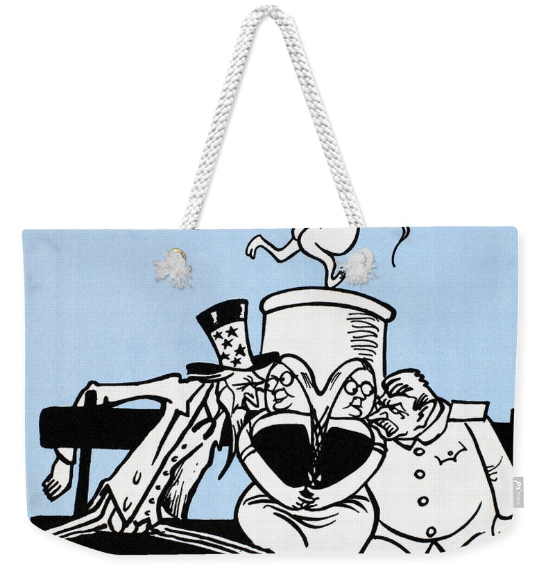 1949 Weekender Tote Bag featuring the photograph Cartoon: Germany Divided by Granger