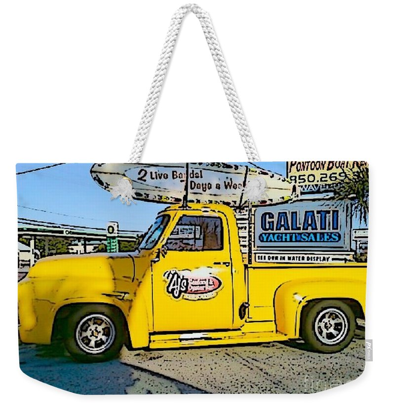Cartoon Weekender Tote Bag featuring the photograph Cartoon Truck by Michelle Powell