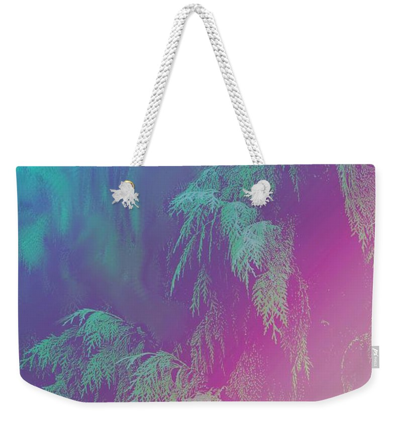 Trees Weekender Tote Bag featuring the photograph Cascade by Ian MacDonald