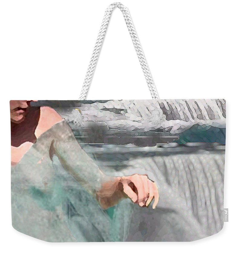 Waterscape Weekender Tote Bag featuring the digital art Cascade by Steve Karol