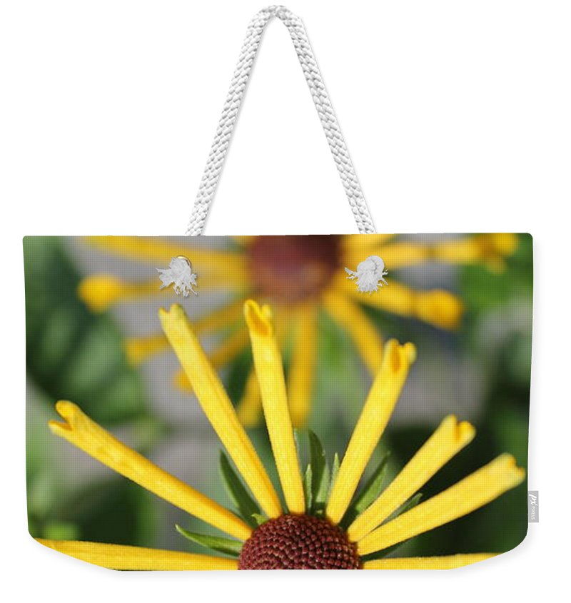 Flowers Weekender Tote Bag featuring the photograph Cascading by Deborah Crew-Johnson
