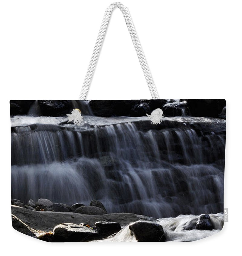 Clay Weekender Tote Bag featuring the photograph Cascading Falls by Clayton Bruster