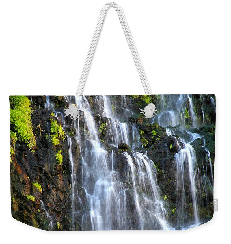 Sunset Weekender Tote Bag featuring the photograph Cascading Springs Snake River Canyon by Ed Riche