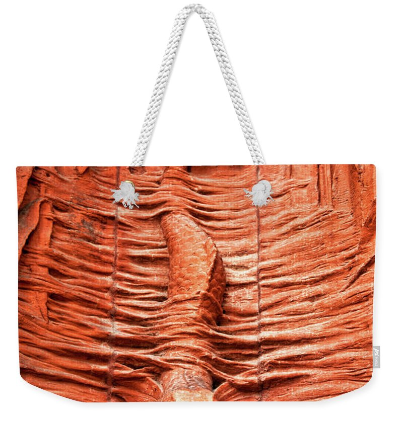 Fountain Weekender Tote Bag featuring the photograph Cast In Clay by Christopher Holmes