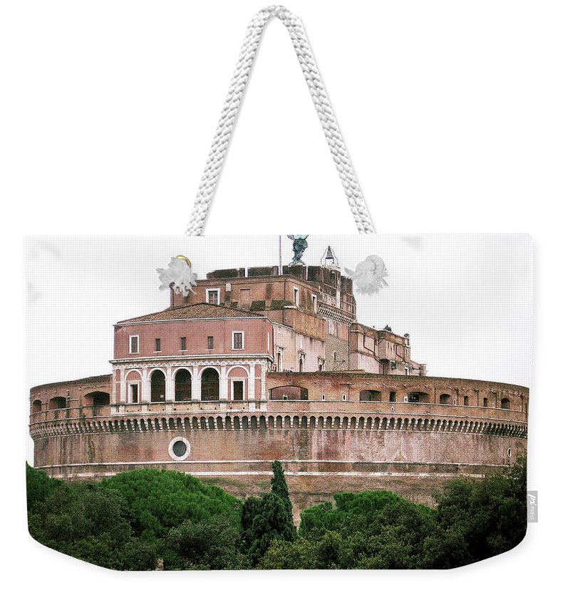 Castel Sant'angelo Weekender Tote Bag featuring the photograph Castel Sant'angelo by Ilaria Andreucci