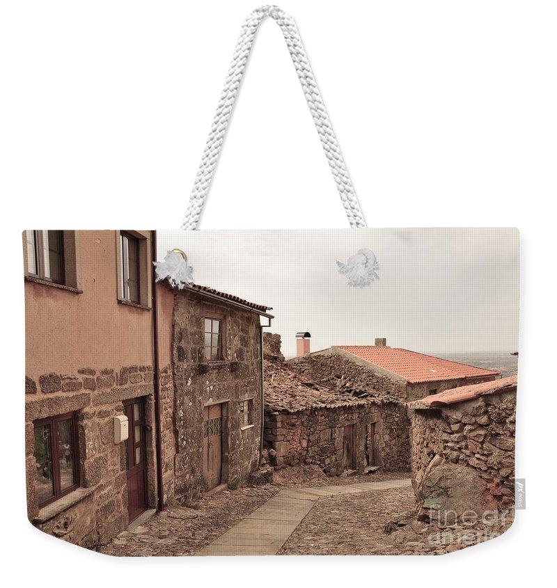 Castelo Rodrigo Weekender Tote Bag featuring the photograph Castelo Rodrigo by Csilla Florida