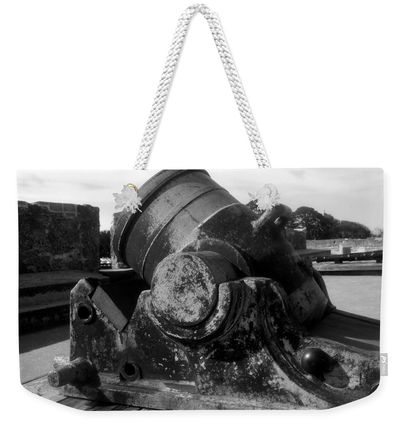 Cannon Weekender Tote Bag featuring the photograph Castillo Cannon by David Lee Thompson