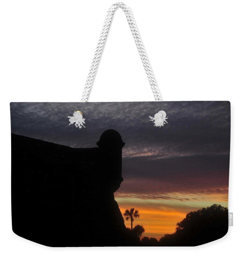 Castillo De San Marcos Weekender Tote Bag featuring the photograph Castillo Evening by David Lee Thompson