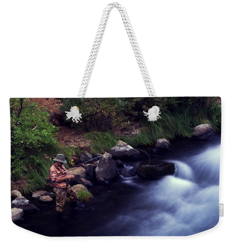 Fishing Weekender Tote Bag featuring the photograph Casting Softly by Peter Piatt