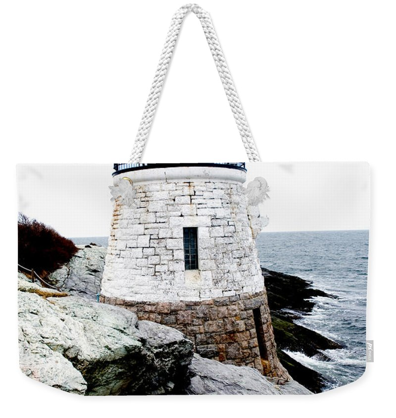 Lighthouse Weekender Tote Bag featuring the photograph Castle Hill Light by Greg Fortier