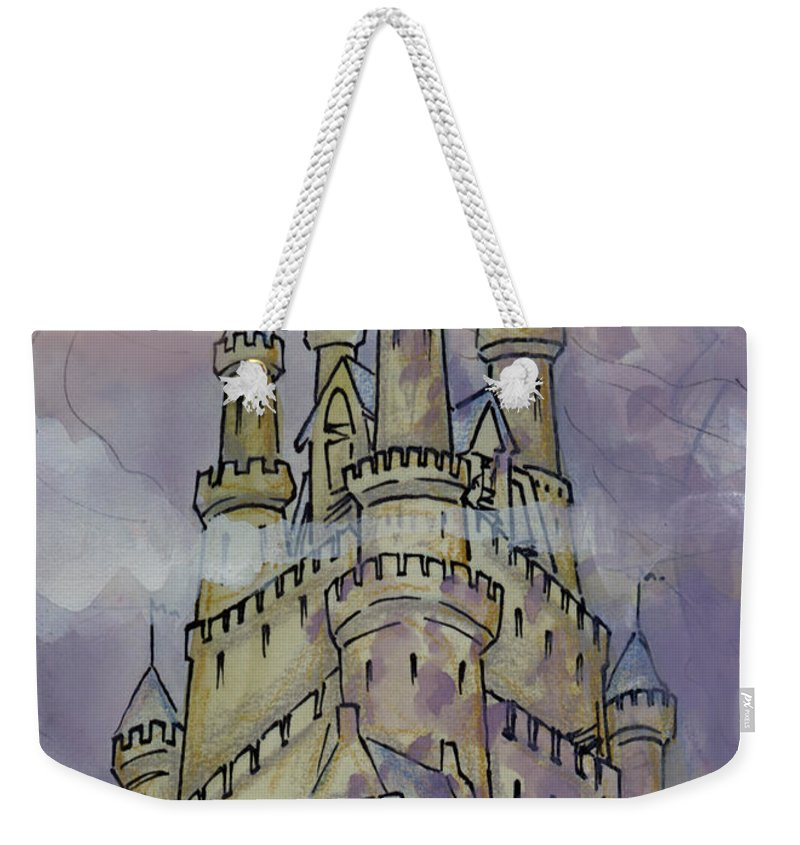 Castle Weekender Tote Bag featuring the greeting card Castle by Kevin Middleton