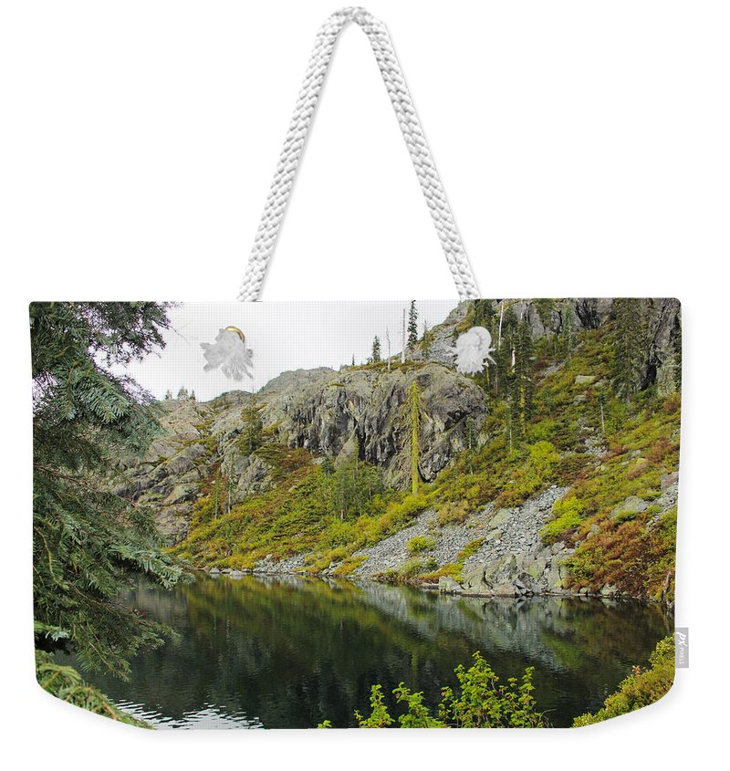 Castle Lake Weekender Tote Bag featuring the photograph Castle Lake by Marnie Patchett