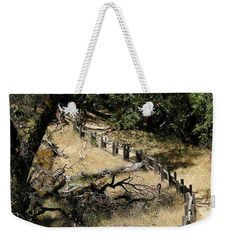Landscapes Weekender Tote Bag featuring the photograph Castle Rock Sp by Karen W Meyer
