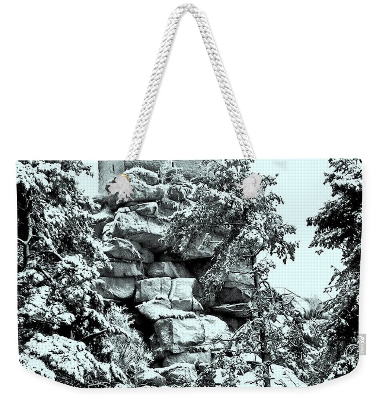 Europe Weekender Tote Bag featuring the photograph Castle Ruin Flossenbuerg by Juergen Weiss