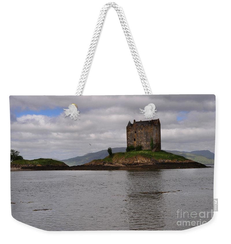Castle Stalker Weekender Tote Bag featuring the photograph Castle Stalker by Smart Aviation