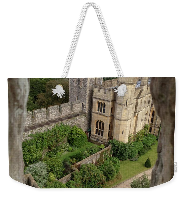 Photograph Weekender Tote Bag featuring the photograph Castle Within A Frame by Nicole Parks