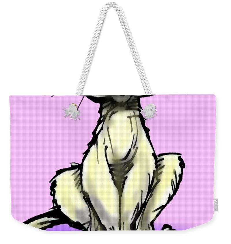 Cat Weekender Tote Bag featuring the digital art Cat by Kevin Middleton