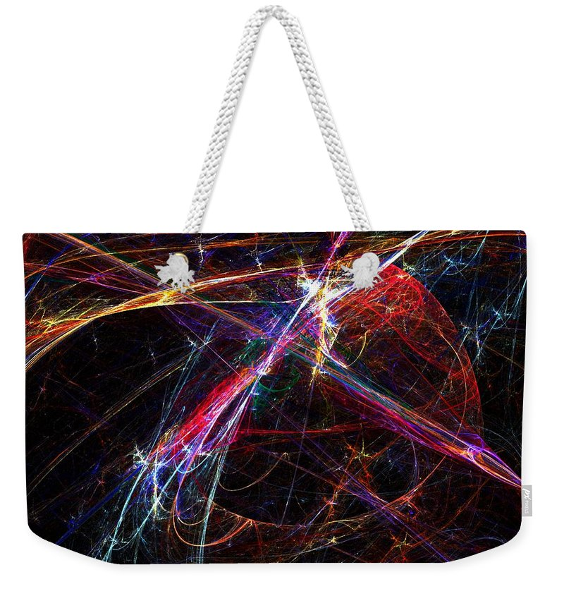 Abstract Digital Painting Weekender Tote Bag featuring the digital art Cat Toy by David Lane