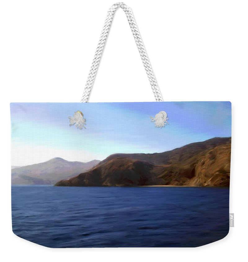 Catalina Weekender Tote Bag featuring the photograph Catalina Shoreline by Snake Jagger