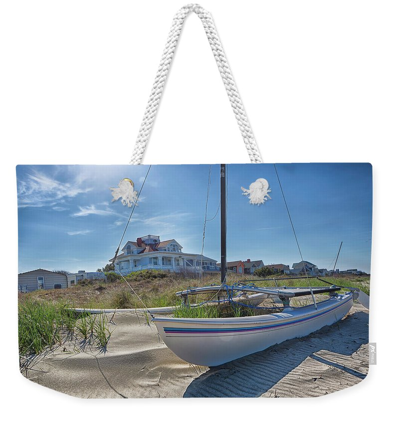 Bay Weekender Tote Bag featuring the photograph Catamaran by Pete Federico