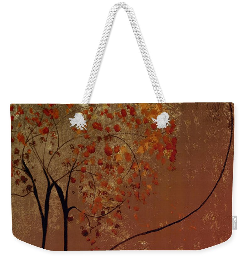 Abstract Weekender Tote Bag featuring the mixed media Catch The Moon by Ruth Palmer