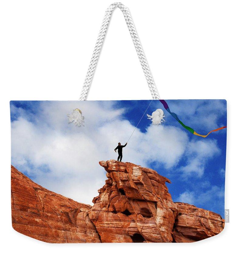 Flying A Kite Weekender Tote Bags