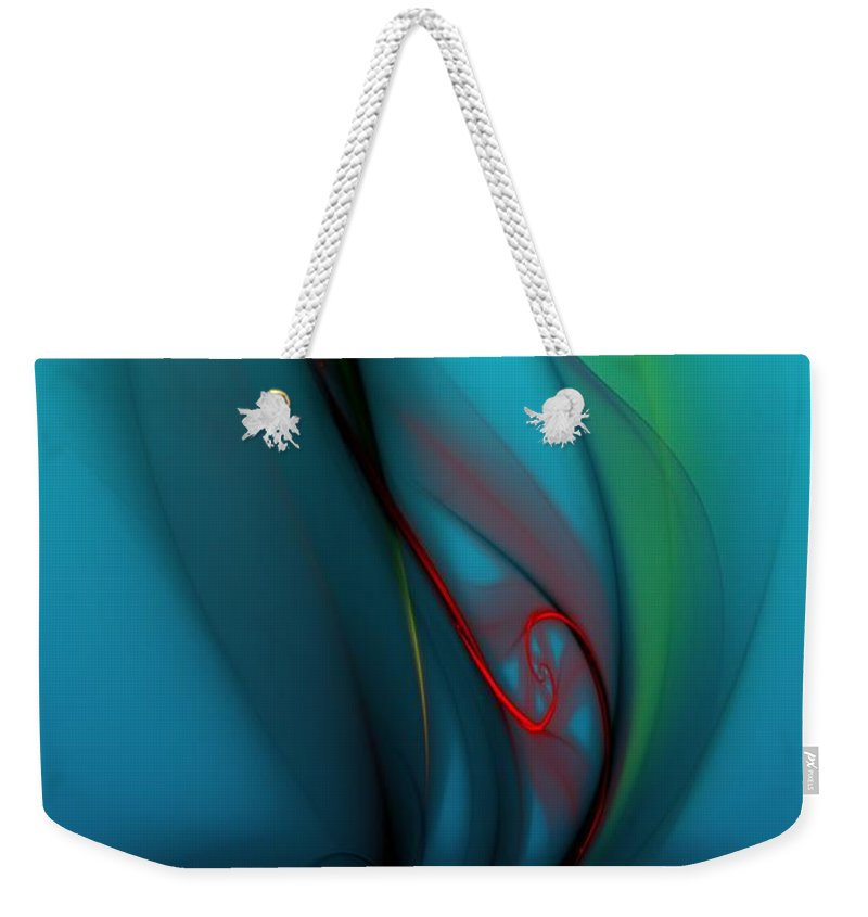 Digital Painting Weekender Tote Bag featuring the digital art Catch The Wind by David Lane