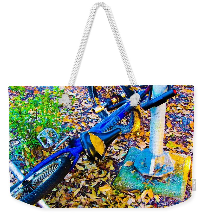 Living Room Weekender Tote Bag featuring the photograph Catching A Ride by Johnnie Stanfield