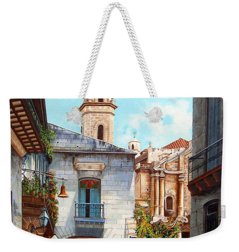 Catedral De La Habana Weekender Tote Bag featuring the painting Catedral De La Habana by Dominica Alcantara