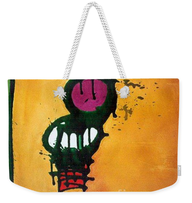 Insect Weekender Tote Bag featuring the painting Caterpillar by Marlene Burns