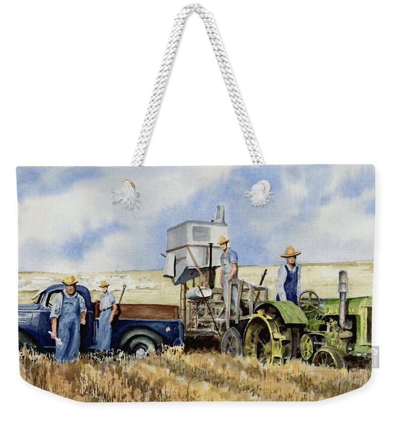 1938 Weekender Tote Bag featuring the painting Catesby Cuttin' 1938 by Sam Sidders