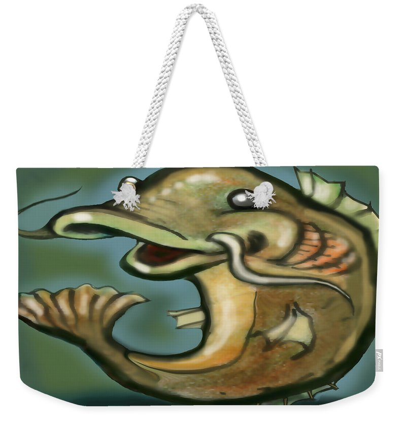 Catfish Weekender Tote Bag featuring the digital art Catfish by Kevin Middleton