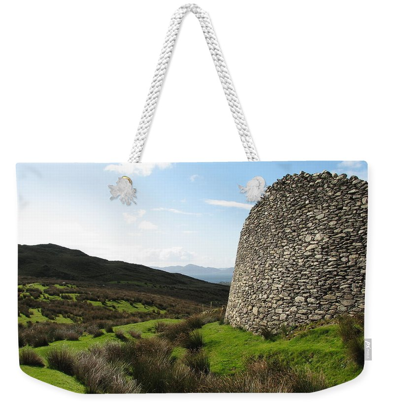 Fort Weekender Tote Bag featuring the photograph Cathair Na Steige by Kelly Mezzapelle
