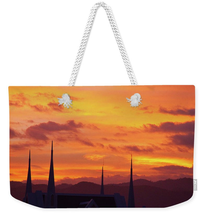 Insogna Weekender Tote Bag featuring the photograph Cathedral Church Sunset by James BO Insogna