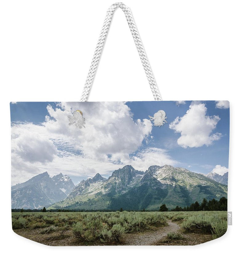 Grand Tetons Weekender Tote Bag featuring the photograph Cathedral Group No.1 by Margaret Pitcher