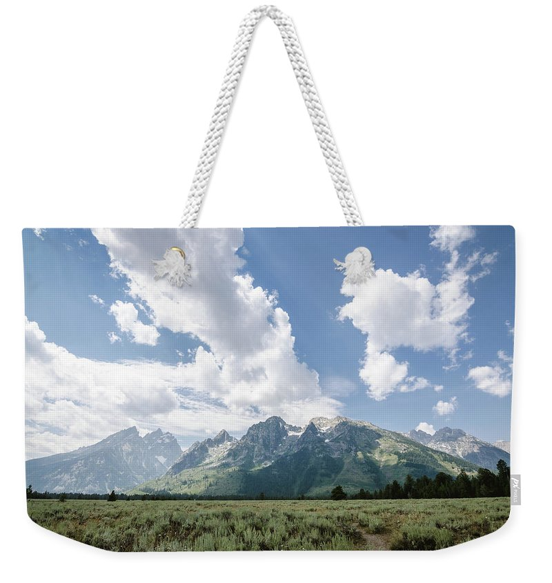 Grand Tetons Weekender Tote Bag featuring the photograph Cathedral Group No.2 by Margaret Pitcher
