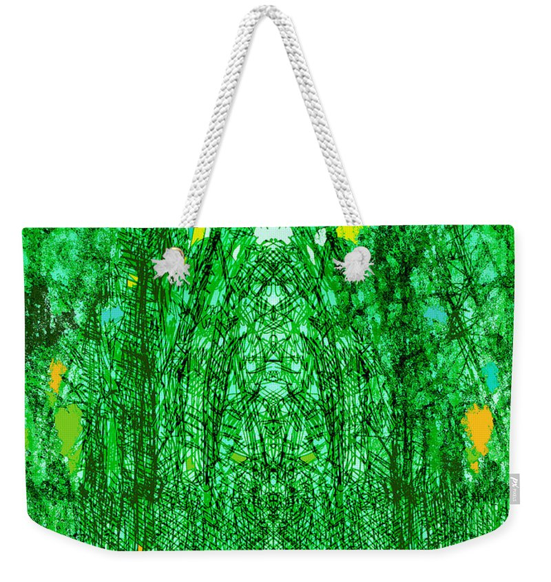 Cathedral Weekender Tote Bag featuring the digital art Cathedral Of Trees by Seth Weaver