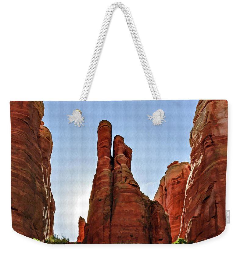 Arizona Weekender Tote Bag featuring the photograph Cathedral Rock 05-155 by Scott McAllister