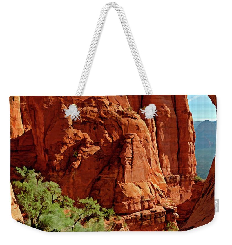Arizona Weekender Tote Bag featuring the photograph Cathedral Rock 06-124 by Scott McAllister