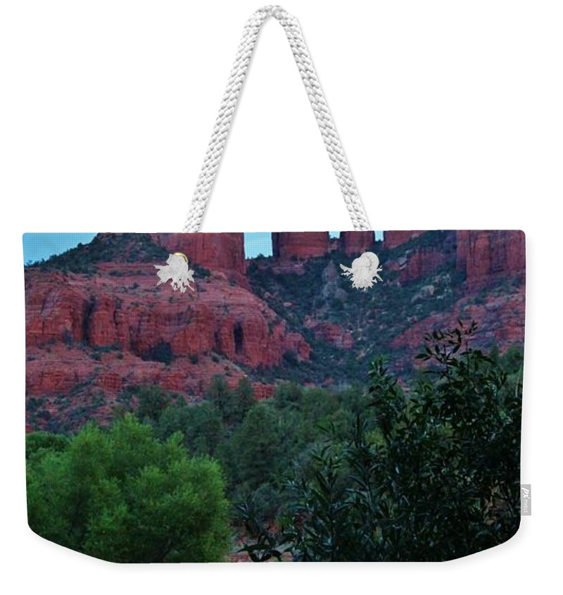 Cathedral Rock Weekender Tote Bag featuring the photograph Cathedral Rock Rrc 081913 Ab by Edward Dobosh
