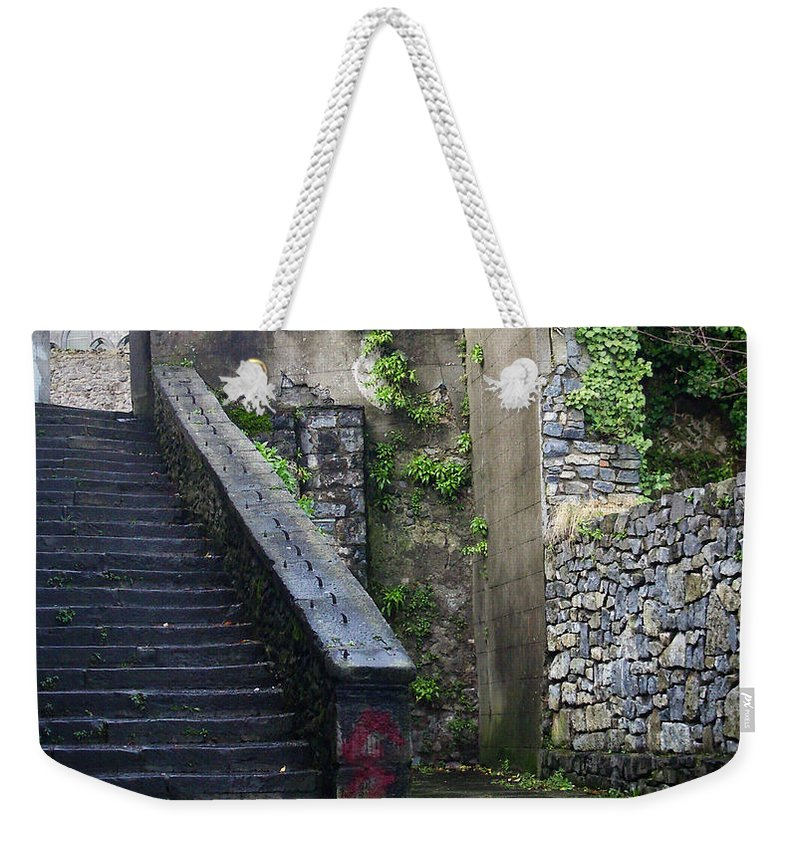 Stairs Weekender Tote Bag featuring the photograph Cathedral Stairs by Tim Nyberg